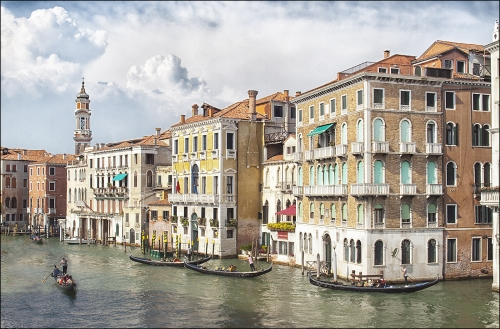 Venetian Traffic by David Rayment