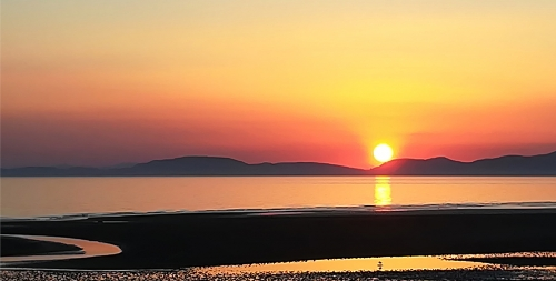 Sunset over Criffel by Carole Waterhouse