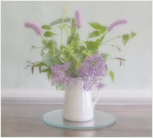 Vase of flowers, Wordsworth House by Tricia Rayment