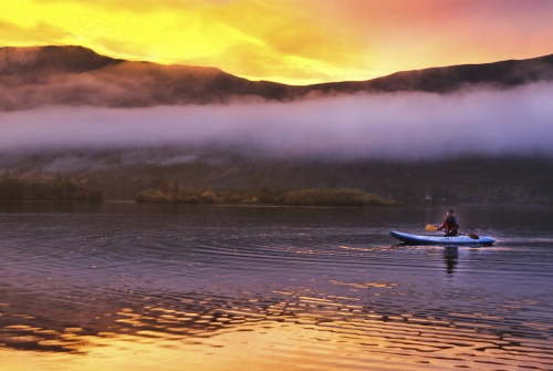 Evening Paddle on Derwentwater by Marilyn Woodthorpe