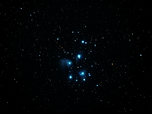 Pliades Star Cluster by David Rayment
