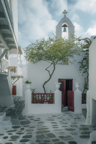 Church in Mykonos by Ted Jordan