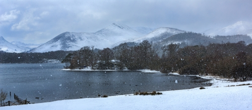 Snowing over Causey Pike by Tom Stenhouse